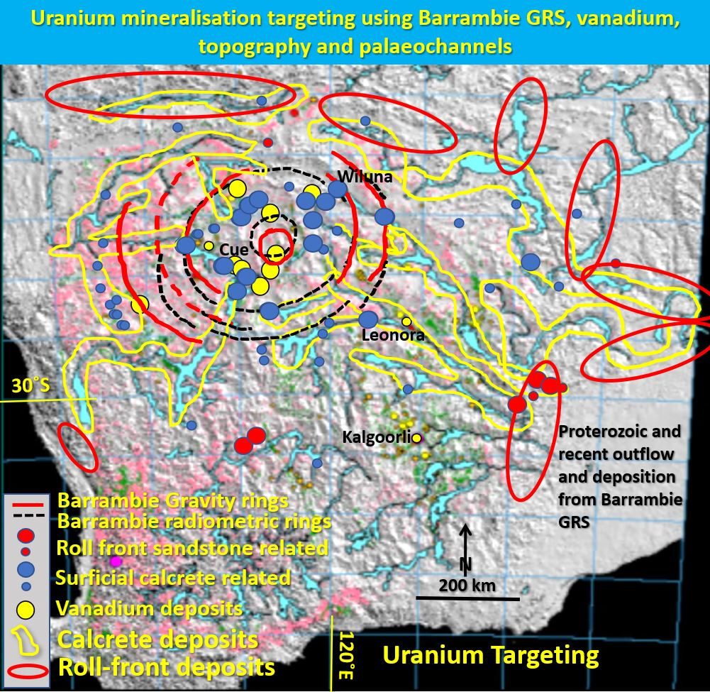 Barrambie uranium targeting topo and palaeochannels